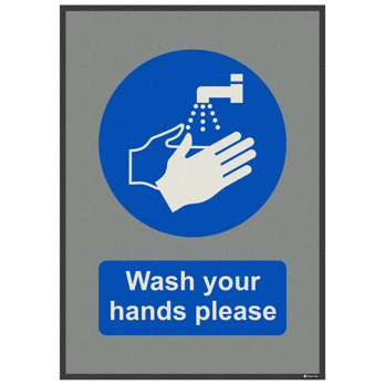 Please Wash Your Hands 85x120 cm